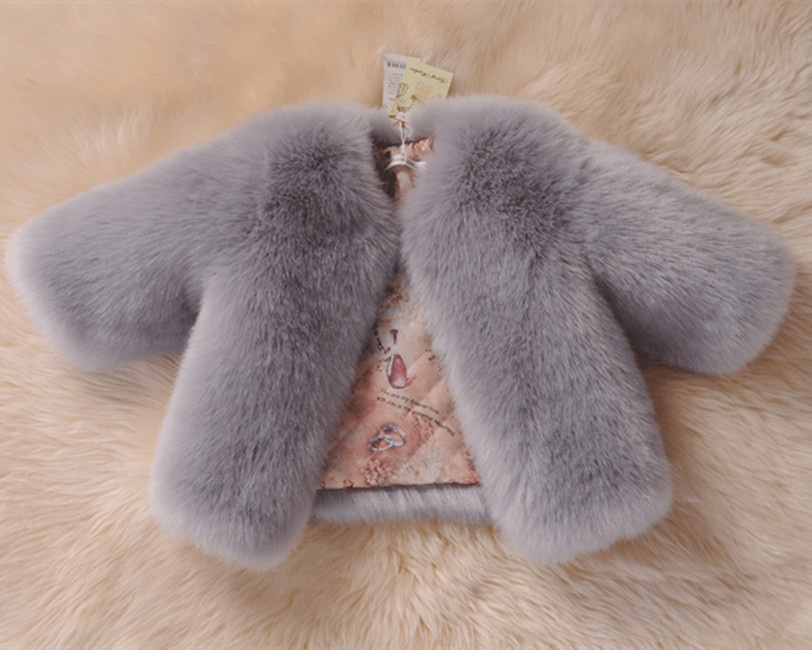 New Winter Girls Fur Coat Elegant Baby Girl Faux Fur Jackets And Coats Thick Warm Parka Kids Outerwear Clothes Girls Coat стоимость