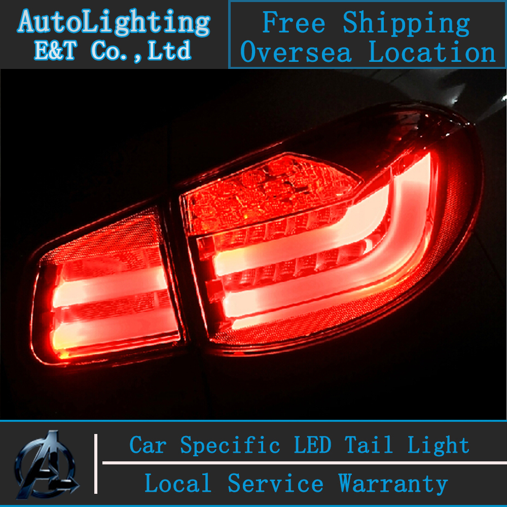 Auto Lighting Style LED Tail Lamp for VW Tiguan taillight assembly 2009-2012 led rear trunk lamp cover drl+signal+brake 2pcs. rear trunk security shield cargo cover for volkswagon vw tiguan 2009 10 11 12 13 14 2015