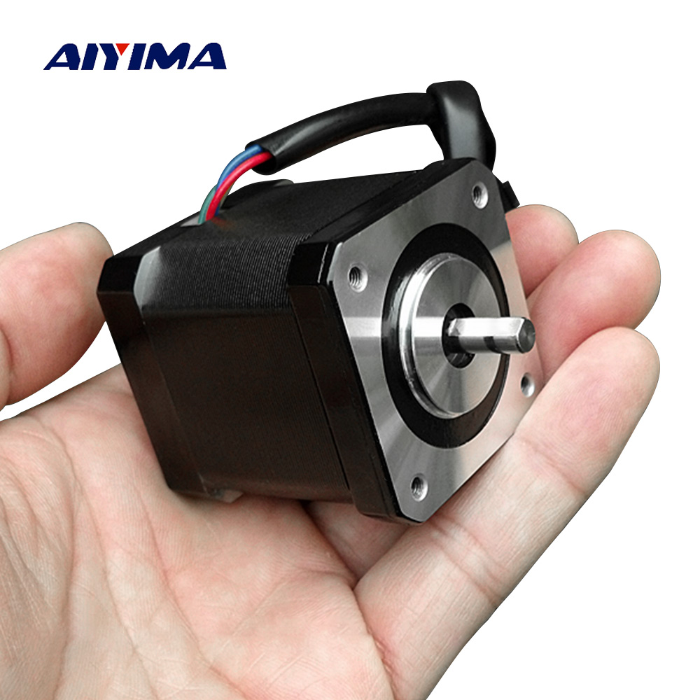 AIYIMA DC 12V 2.2A 0.5 N.m Torque Motor Two-Phase Four-Wire Electricity 42 Stepper Motors High Quality For Textile Machinery high quality two phase four wire dc stepper motor step angle 1 8 degree with output gear