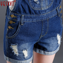 yesvvt New S XL Top Quality Women Girls Washed Jeans Denim Casual Hole Jumpsuit Romper Overalls