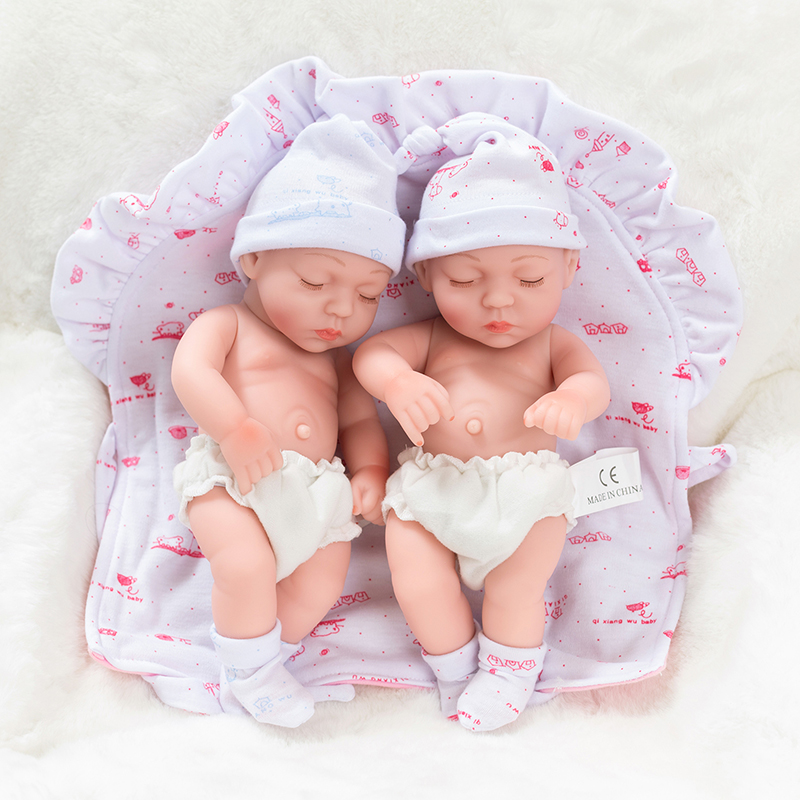 10inch Full Silicone Reborn Baby Dolls Alive Lifelike Mini Real Dolls Realistic Bebes Reborn Babies Toys Bath Playmate Gift-in Dolls from Toys & Hobbies