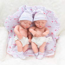 10inch Full Silicone Reborn Baby Dolls Alive Lifelike Mini Real Dolls Realistic Bebes Reborn Babies Toys Bath Playmate Gift