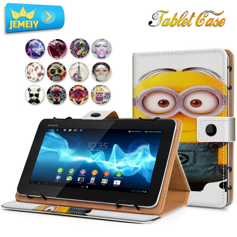 8'' Universal Tablet Leather Case For Sony Xperia Z3 Tablet Compact Tablet cover Printed Stand case For Xperia Z3 Tablet Compact sony tablet z3 compact ainy
