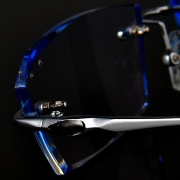 Rimless Glasses Prescription Glasses Titanium frame Men's Optical glasses Myopia Hyperopia Progressive prescription 103