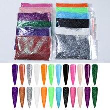 1 sac 20/5g poudre à ongles Laser miroitant paillettes Chrome Pigment poussière ail Art décorations