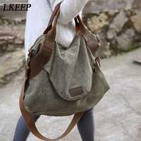 2019 marka duża kieszeń na co dzień torebka damska torebka torebki na ramię płótno pojemność torby dla kobiet Messenger torby