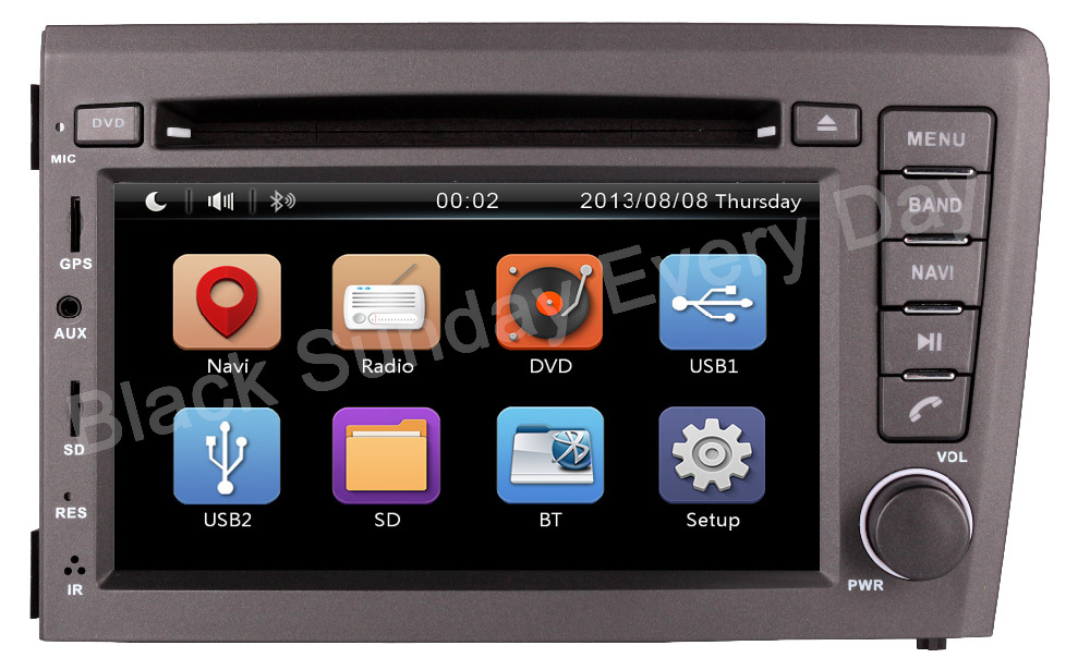 wholesale 2 din 7inch car head unit stereo audioradio gps. Black Bedroom Furniture Sets. Home Design Ideas