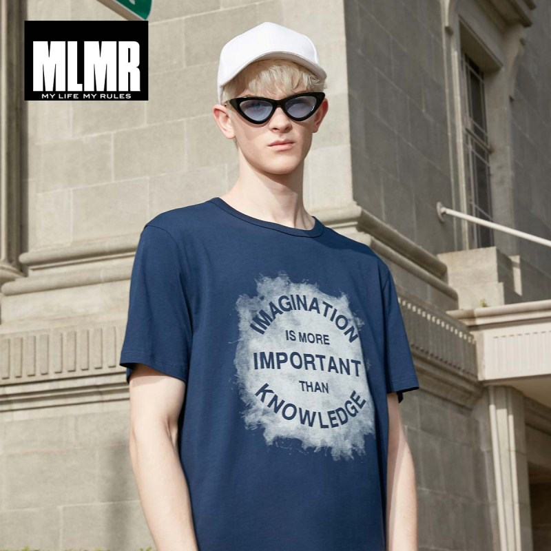 MLMR Men's Letter Printed T-shirt O-Neck Tshirt Top Men's Streetwear T Shirt  New Brand Menswear 219101530