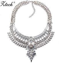 Ztech большие модные хрустальные стразы ожерелье Европейский