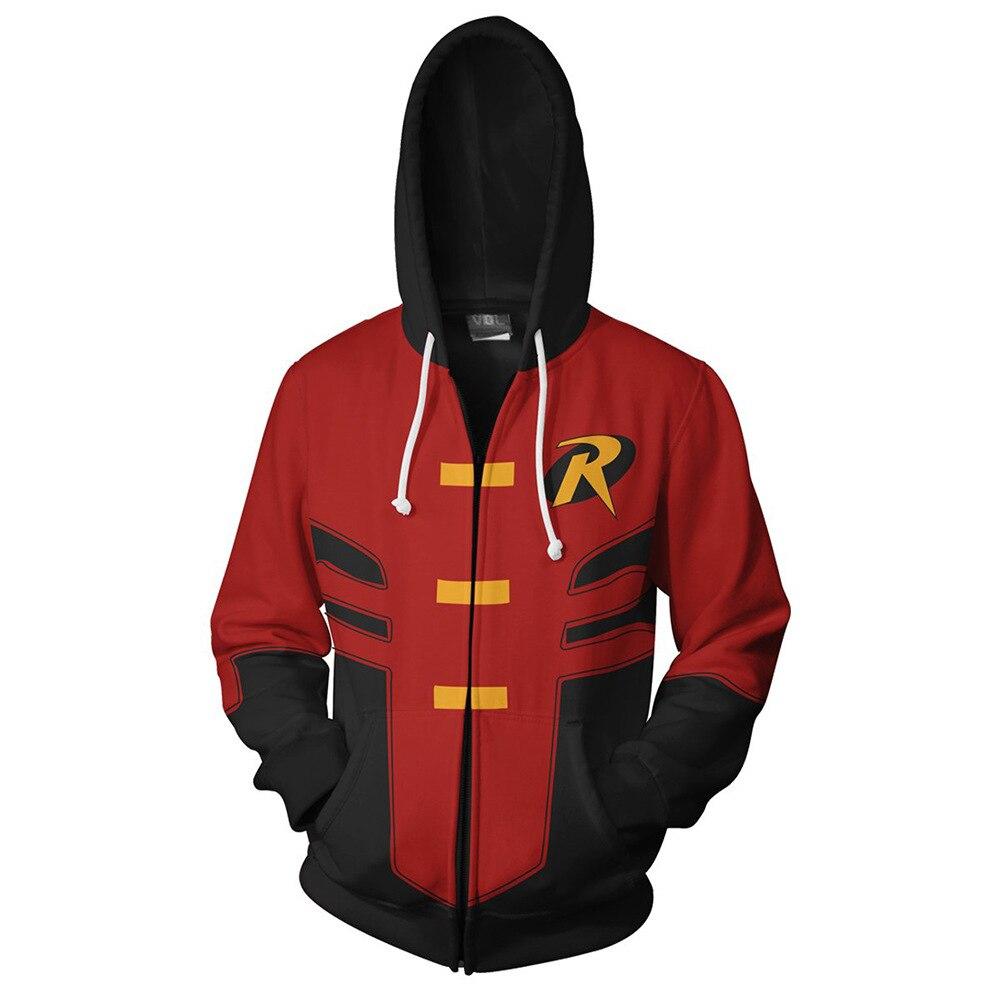 Rojo Capucha Hombre Sudaderas Y Mujer Con Superhéroe Para Nuevas q8E7U