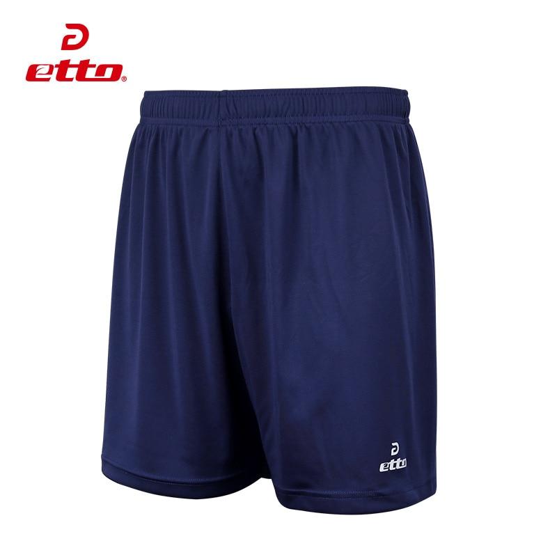 Etto Nuevo Color Sólido Hombres Pantalones Cortos de Fútbol 2017 Equipo de Fútbol Partido de Entrenamiento Uniforme Transpirable Pantalones Cortos de Deportes de secado rápido HUC037