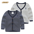 Top Quality Children Outwear Baby Boys Cardigan Coat Brand Design Fashion Striped Boy Jacket Casual Spring Clothing Kids Clothes