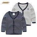 Top Quality Crianças Outwear Meninos Casaco Cardigan Marca de Design de Moda Listrado Menino Jaqueta Casual Primavera Roupas Roupa Dos Miúdos