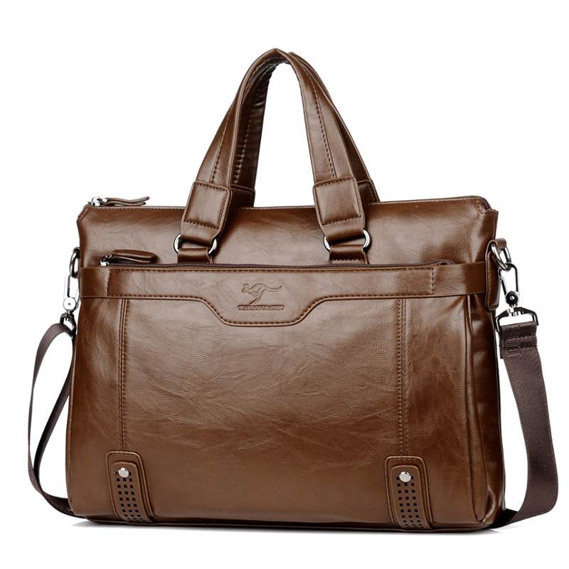 Briefcases Tote Laptop-Bags Messenger-Bags Travel-Bag Vintage Men's For Male Causal Large