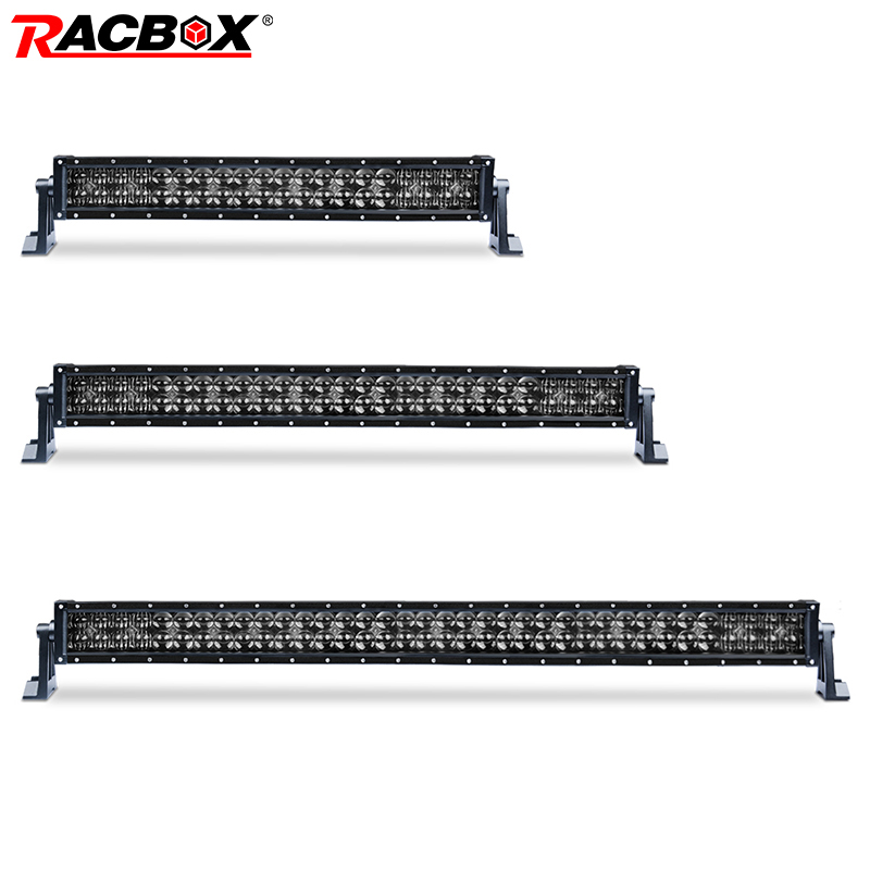 Light Bar/work Light Racbox 400w 300w 200w 22 32 42 Inch Straight/curved Led Light Bar Black 5d Lens Super Chips Combo Beam For Offroad Uaz 4x4 4wd Buy One Give One