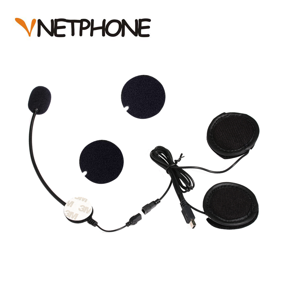 Helmet Casco Capacete Motorcycle Intercom Accessories Mini Usb Jack Microphone Speaker Headset Replacement for Vnetphone V8|Helmet Headsets| |  -