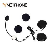 Шлем Casco Capacete Мотоциклетные аксессуары для внутренней связи штекер Mini-USB микрофон динамики гарнитуры Замена для Vnetphone V8