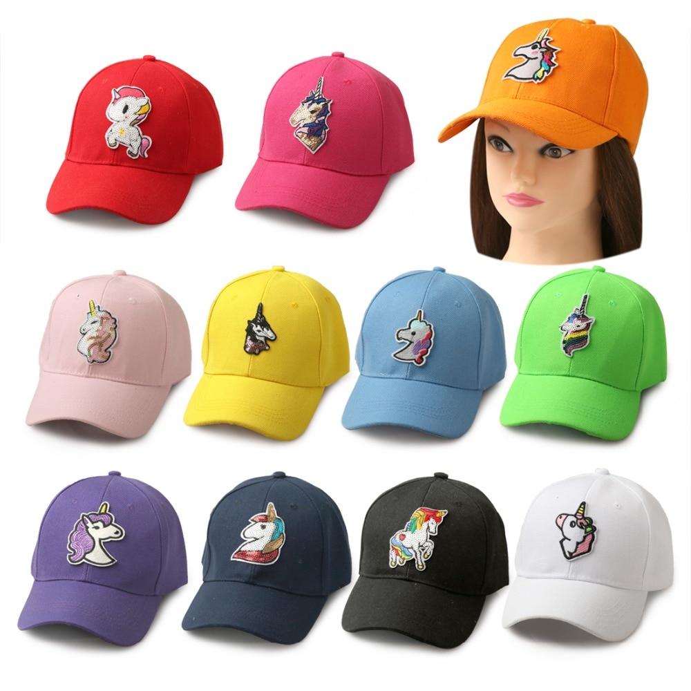 Summer Unicorn Caps With Sequined Patch Hip-Hop Men&Women Unicorn Baseball Cap