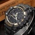2016 Novo Relógio Digital LED Relógios Militares Esportes Ao Ar Livre de Natação dos homens de Condução Relógio 50 M Waterpoof top marca de luxo
