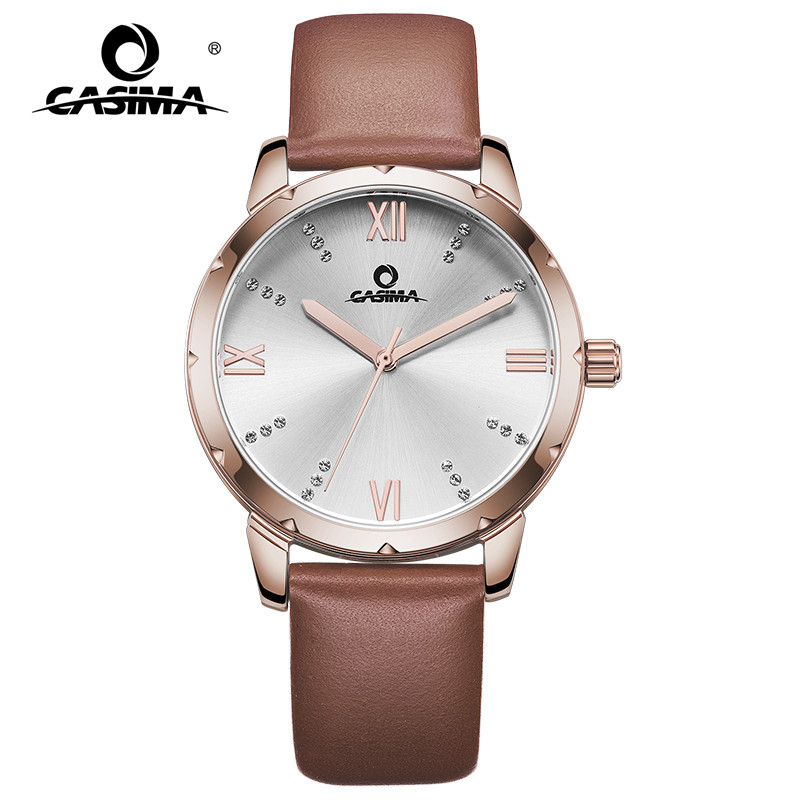 New Luxury Brand Women Bracelet Watches Fashion Simple Ladies Quartz Watch Leather Band Wristwatches Waterproof CASIMA 2626
