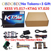 Online Version Master KESS V5.017 V2.23/KTAG V7.020 V2.23 No Tokens Limit KESS 5.017/K-TAG K Tag 7.020 ECU Programmer Tool