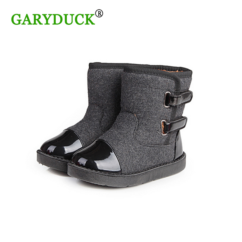 GARYDUCK 2017 New Children s Fashion Winter Snow Boots Slip Resistant Thick Cotton Plus Velvet Boots