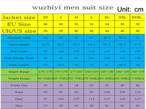 Image 4 - wuzhiyi Gray Men Suit Slim Fit Jacket With Black Tuxedo Custom Made Groom Wedding Jacket Suits 2018 (Jacket + Pants + Vest)suits