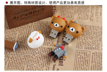 100% real capacity !Retail genuine 4G/8G/16G/32G/64G/128G/256G cartoon usb flash drive cute Bear pen disk