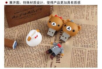 100% real capacity !Retail genuine 4G/8G/16G/32G/64G/128G/256G cartoon usb flash drive cute Bear pen disk