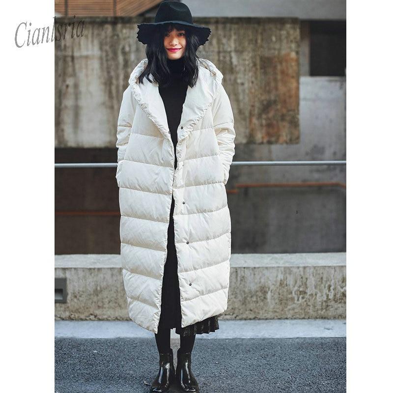 Capucha Ganso Abrigo La As Invierno Prendas Las Mujer Capullo Tipo Con Abajo  Mujeres 2019 Blanco Chaqueta Vestir ... 38163af10948
