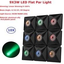 10Pack Mini Size Diamond Beam Matrix Lights High Quality 9X3W RGBW 4IN1 Professional LED Flat Par With DMX512 Indoor Use