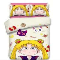 Kawaii Anime Chi bi Maruko Rilakkuma Sailor Moon Bedding Twin Full Queen King Single Double Size Kids Girl Duvet Cover Set
