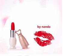 Wholesale 12pcs BY NANDA 12 Color Matte Lipstick Arrival Lip Stick Brand Waterproof Long Lasting Lips Makeup Cosmetics