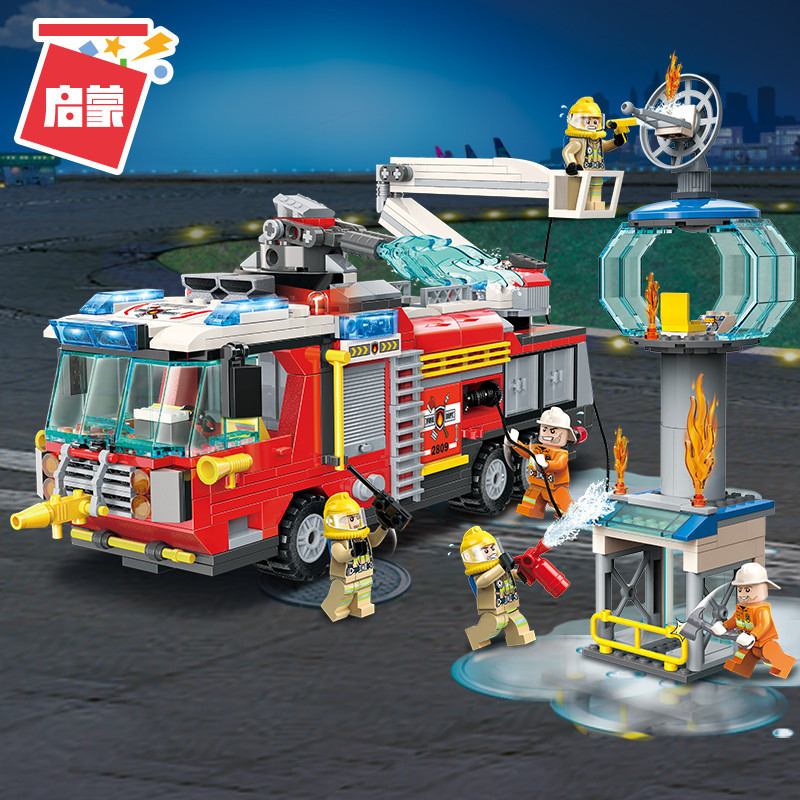 City-Fire-Airport-Rescue-Operation-Spray-Water-Truck-Firemen-Car-Building-Blocks-Sets-Bricks-Model-Kids (4)