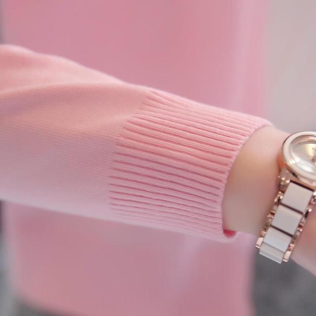 Refeeldeer Knitted Cardigan Women 2017 Spring Autumn Long Sleeve Sweater Cardigan Female Single Button Pull Femme Black Pink