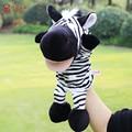 1 Unids Velet Juguete Del Dedo de la Familia de Dibujos Animados de Animales Marioneta de mano de la Felpa A Favor del bebé Juguetes Muñecas Kid Niño Niños Niñas Juguete Educativo Mano