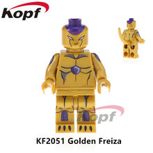 Single Sale Super Heroes Dragon Ball Z Figures Golden Freiza Future Trunks Majin Buu Building Blocks Children Toys Gift KF2051(China)