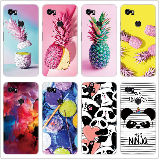 Us 158 16 Offthin Soft Tpu Fundas Pineapple Cases For Google Pixel 2 Xl Case Silicone For Google Pixel Xl Case Rubber Clear Back Cover Coque In