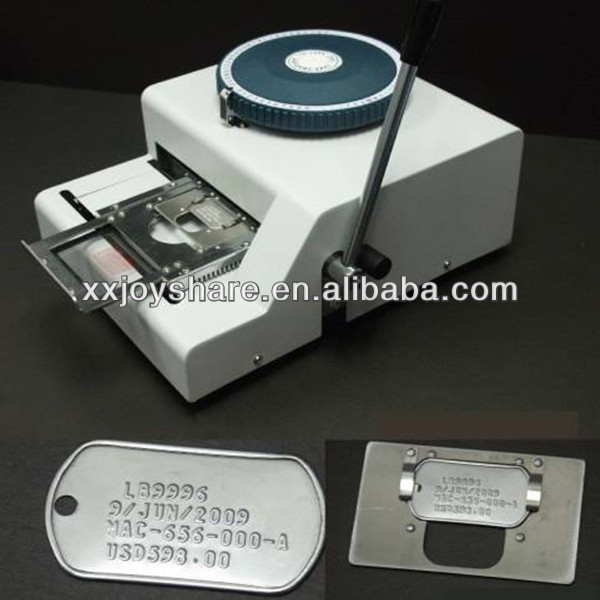 JX-52D dog tag embossing machine printer dog tag press machine manual 52 d characters for steel metal embossing in dog tag