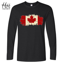 HanHent Canada Flag Canadian Leaf New Long Sleeve T shirt Men 2017 Autumn Casual Male Streetwear Tshirt O-neck Brand T-shirt(China)