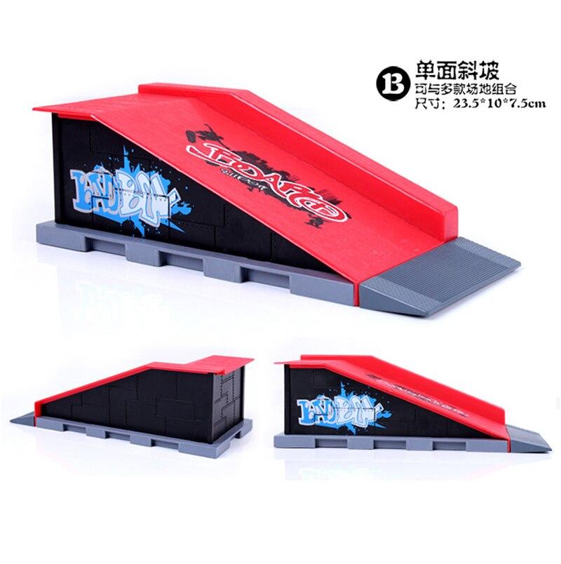 Livraison gratuite modèle demi-Six-en-un (3 pièces) Mini rampe doigt Skateboard parc/Skatepark tech-deck Skate Park comprend 3 doigts planche - 4