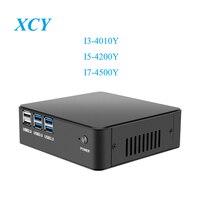 Intel Core i3 4010Y i5 4200Y i7 Mini PC Windows 10 микро Настольный ПК HDMI VGA USB3.0 300 м Wi Fi DDR3 Оперативная память ТВ коробка NUC