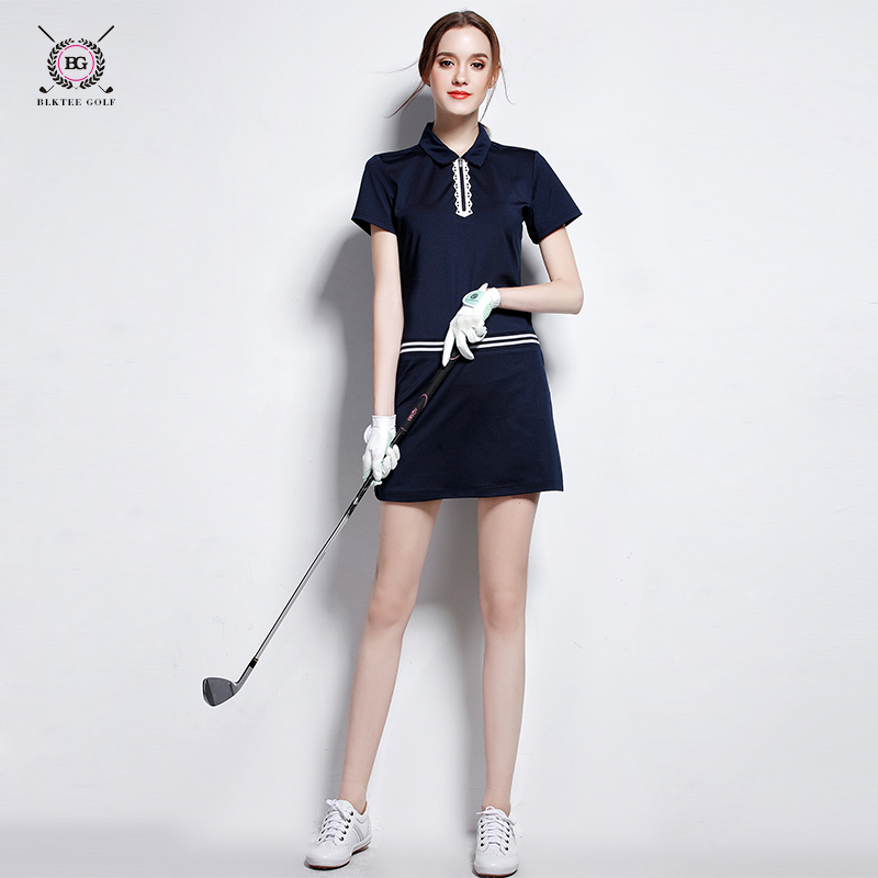 2017 new arrival brand women golf clothes women's one-piece shirt+skirts lady summer coolpass short skirt dry fit cool 2 colors
