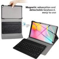 case samsung galaxy 10.1 Inch Tablet Bluetooth Backlit Keyboard For Samsung Galaxy Tab A 10.1 2019 SM-T510 SM-T515 With Leather Case (2)