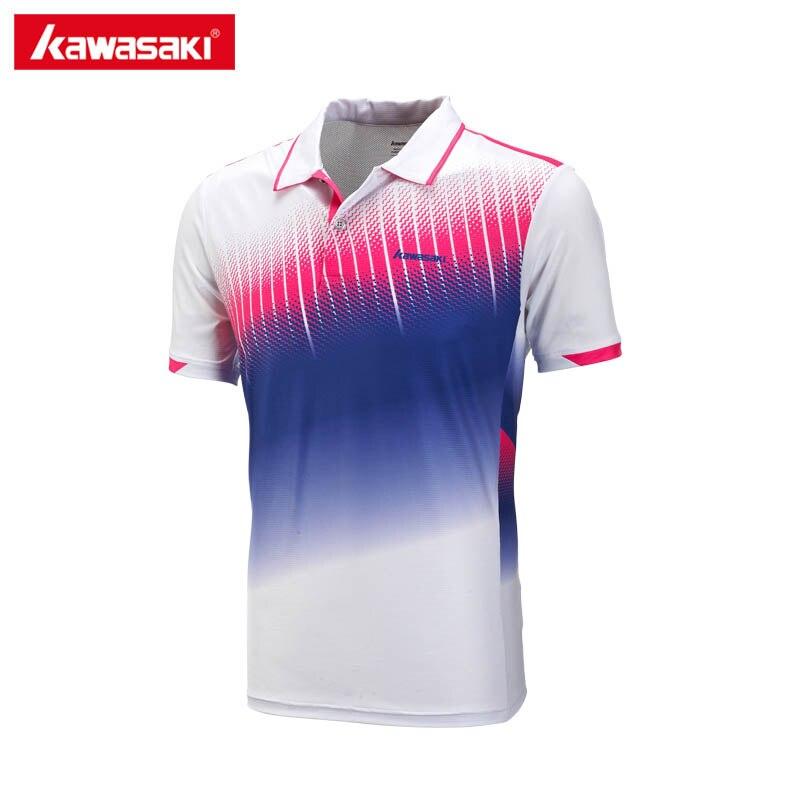 Kawasaki бренд Бадминтон Теннис V Средства ухода за кожей шеи Футболка для Для мужчин дышащая быстросохнущая короткий рукав белая футболка Фитн...
