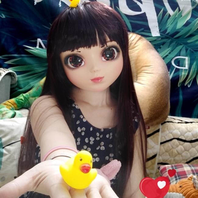 gl042 Boys Costume Accessories Female Sweet Girl Resin Half Head Kigurumi Mask With Bjd Eyes Cosplay Anime Role Lolita Mask Crossdress Doll