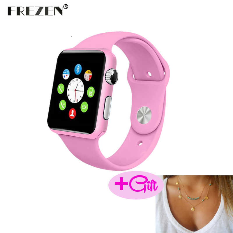 c5b0ded37d9 FREZEN Smart Watch G10A Paint Pink Bluetooth Wristwatch For Women Adult  Answer Call Reloj Con SIM