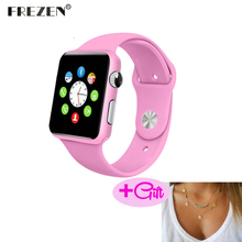 FREZEN Smart Watch G10A Paint Pink Bluetooth Wristwatch For Women Adult Answer Call Reloj Con SIM