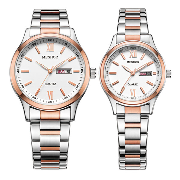 (MESHOR) fashion leisure steel watch with a quartz couples MS.5019M.56.136 / MS.5019L.56.136