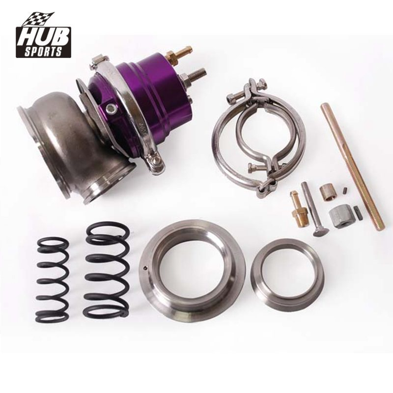 UNIVERSAL EXTERNAL 12-PSI 60MM TURBO//CHARGER V-BAND WASTEGATE WG W//SPRING RED